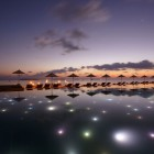 Big Pool Anantara Kihavah Villas Night Atmosphere