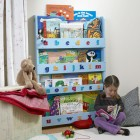 Children Bookcase in Blue Finish