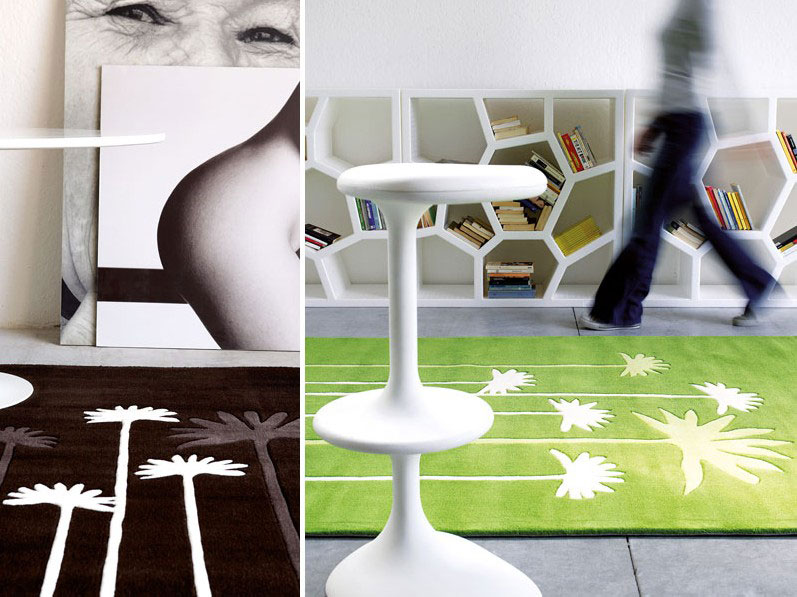 Contemporary Brown and Green Rugs from Dhesja