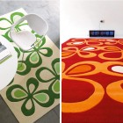Contemporary Red and Green Rugs from Dhesja