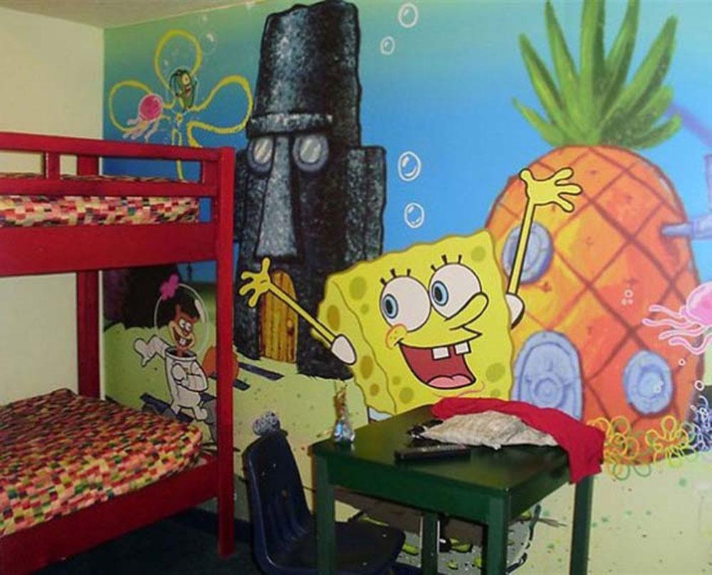 decorate a childs bedroom spongebob interior design ideas