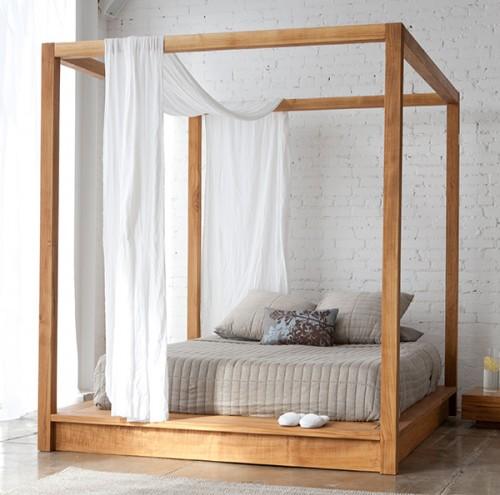 Extraordinary Canopy Bed Solid Wood Mashstudios