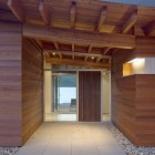 Front Door of Shuswap Cabin by Splyce Design