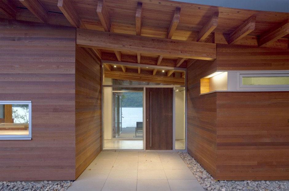 Front Door of Shuswap Cabin by Splyce Design