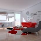 Innovative Red Sofa