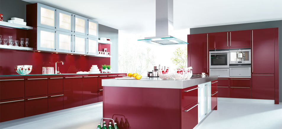 Inspiring Red Kitchens by Schueller