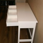 Large White Table with Rack
