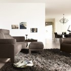 Living Room Rug Black Sofa Sets by COR