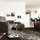 Living Room Rug Black Sofa Sets by COR