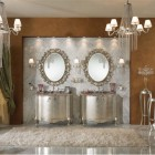 Luxury Classic Bathroom with Doble Vanity Glass