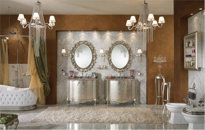 Luxury Classic Bathroom with Doble Vanity Glass