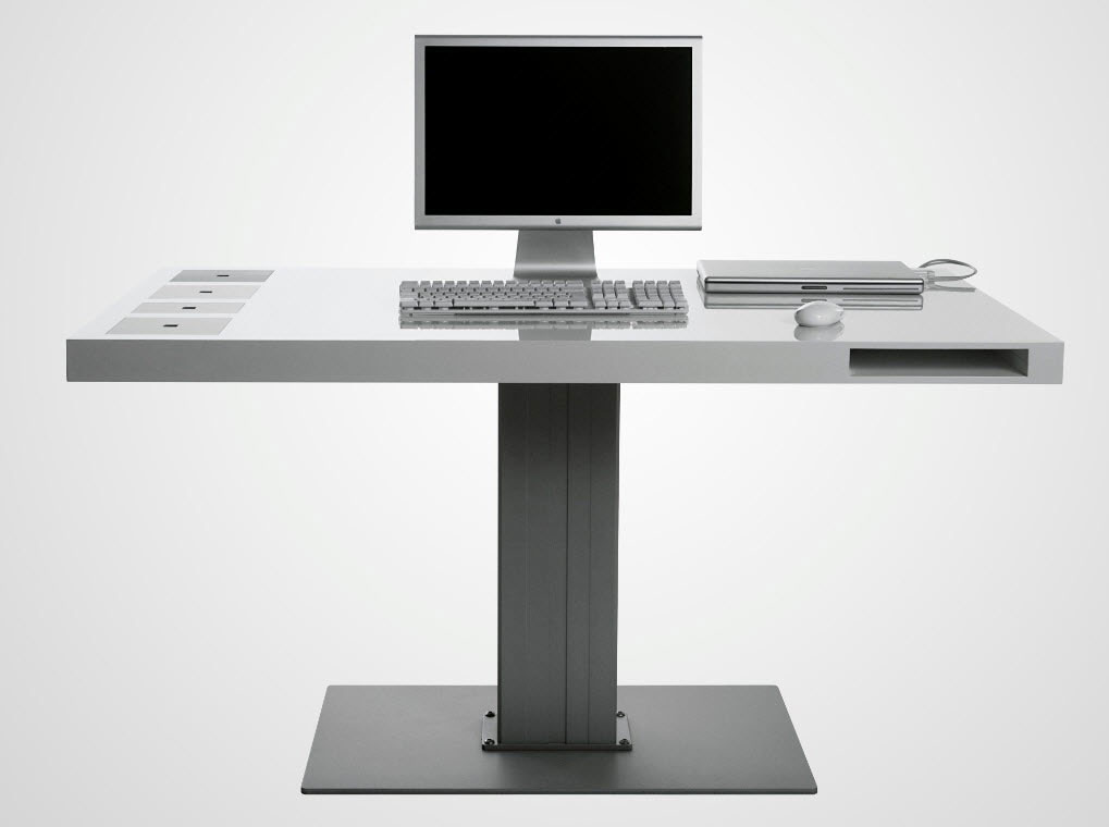 Milk Wireless Computer Desk