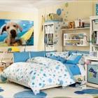 Minimalist Blue Teen Bedroom