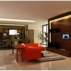 Minimalist Red Sofa