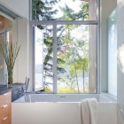 Mminimalist Bathrooms of Shuswap Cabin by Splyce Design