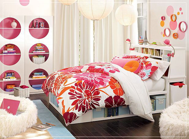 Pink Teenage Bedrooms Modern