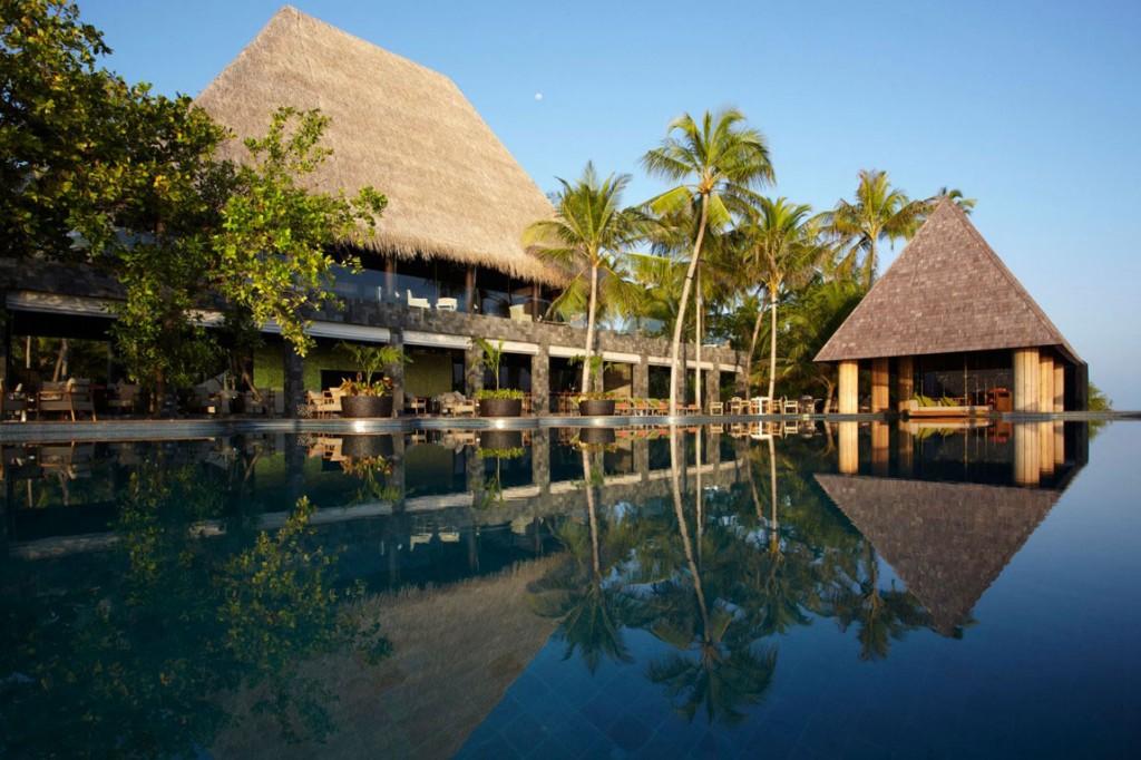 Pool With Coconut Tree Anantara Kihavah Villas