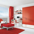 Red Combinations Kid's Bed Rooms