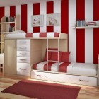 Red Stripe Kids Room Designs
