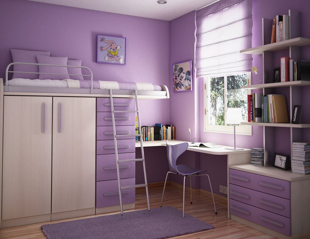 Shining Purple Kids Room