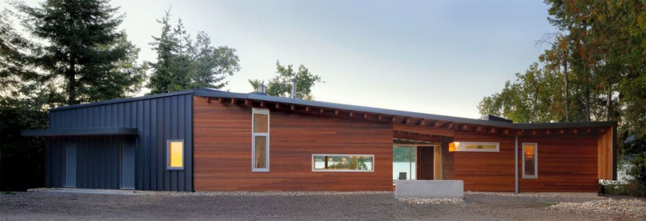 Shuswap Cabin by Splyce Design Front Wiew