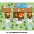 Sketch Two Bedroom Beach Residance Anantara Kihavah Villas