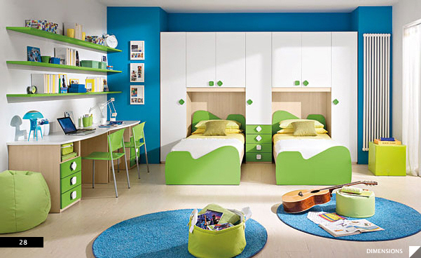Twin Storage Kid's Bed Rooms