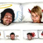 Amazing Angel And Devil Pillow Design