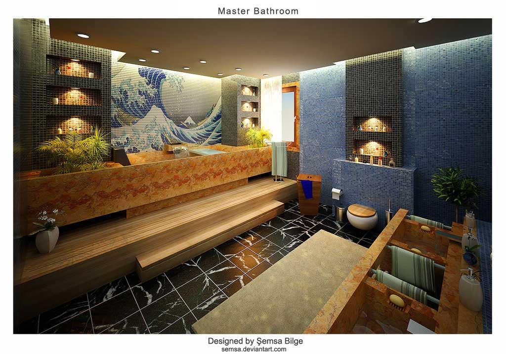 Amazing master bathroom full art by semsa interior for Amazing master bathroom designs