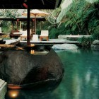 Amazing Stone Tub by the Pool Como Shambhala Resort