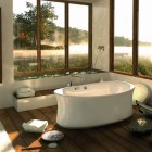 Ambrosia Bathroom Design Ideas with White Rugs by Pearl Baths