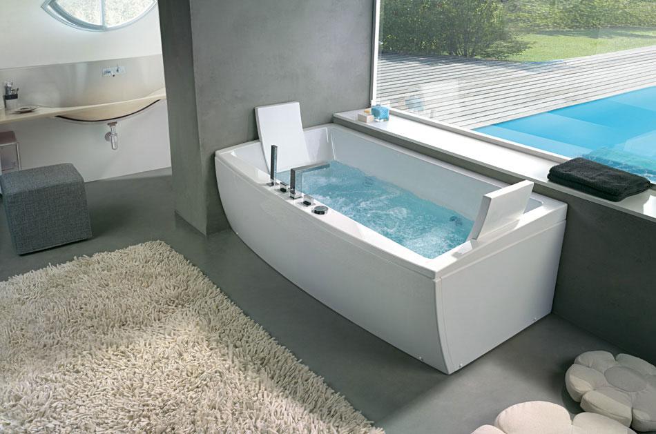 Angular Awesome Bathtub with Head Rest by BluBleu