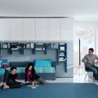 Aqua White Contemporary Teenagers Room Design Ideas