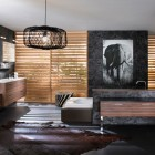 Artistic Brown Bathroom from Delpha