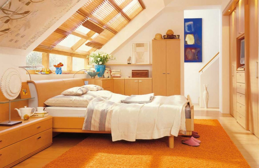 Attic Shining Bedroom Design Ideas From Hulsta