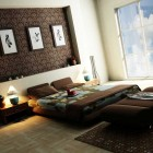 Awesome Bedroom with Modern Dramatic Wallpaper by TareqBanama