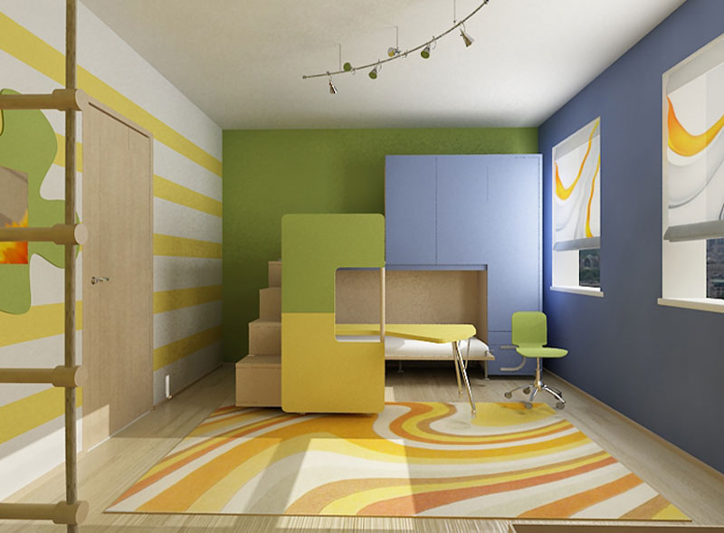 awesome full color kids room design ideas interior