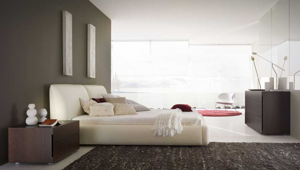 awesome red white black bedroom design   Awesome Modern Black White Bedroom with Red Accent ...