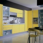 Awesome Modern Kitchen Cabinets Miror Yellow