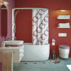 Beautiful 3D Imaging Modern Pink Red Bathroom 2011
