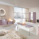 Beautiful Bathroom Interiors with White Rugs from Delpha
