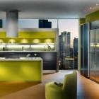 Beautiful Green Apartment Kitchen Design