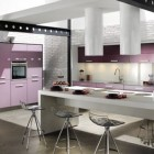 Beautiful Kitchen Violet Accents