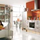 Beautiful Orange Kitchen Design