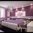 Beautiful Purple Bedroom with Purple Rugs