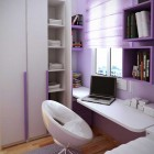 Beautiful Purple Tiny Kids Room Design