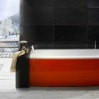 Beautiful Red and White Bathtub by BluBleu