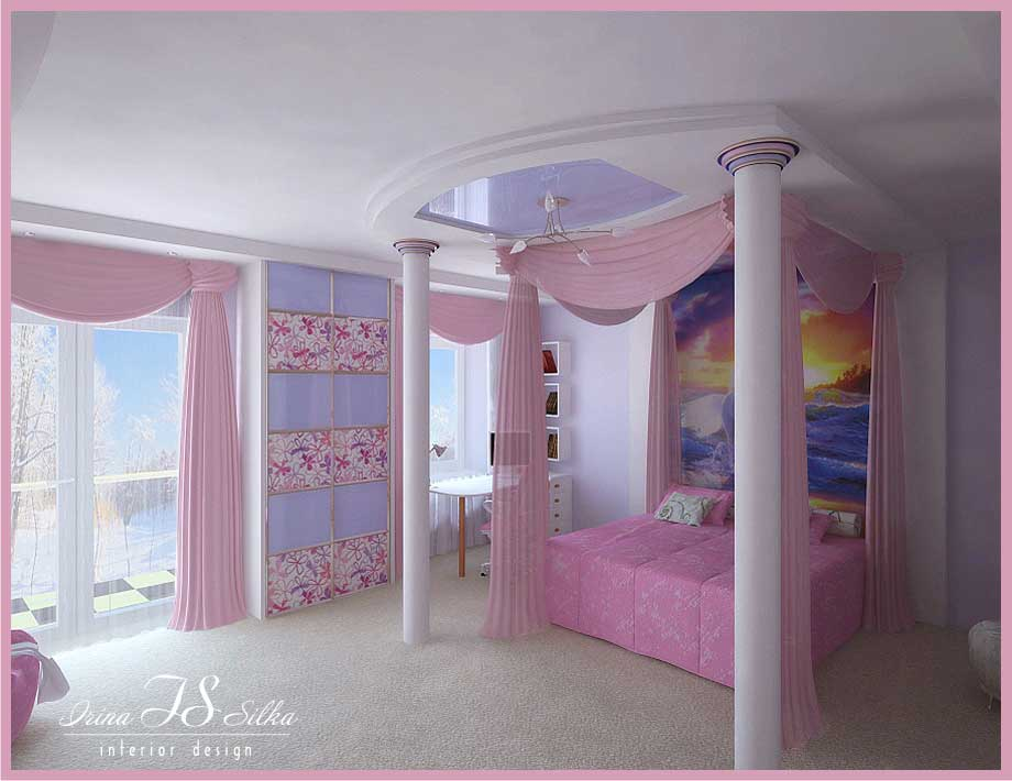 Beautiful room for girl by irina silka interior design ideas - Modern girls bedroom design ...
