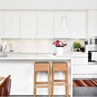 Beautiful White Modern Kitchen With Colorful Accessories