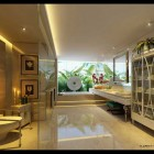 Beautiful White Warble ADA Compliant Bathroom Design